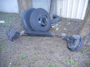 MAZDA T3500 FRONT AXLE AND RIMS 5 STUD OF 1990 MODEL. Primbee Wollongong Area Preview