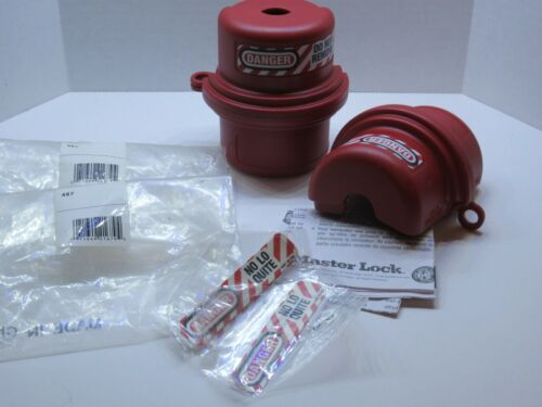 (NEW - Lot of 2) MASTER LOCK 487 Safety Series Plug Lockout Cover