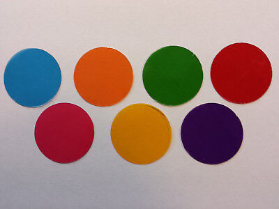 Microscope 32mm Set Of Seven Solid Color Filters Collectors Full Color Set