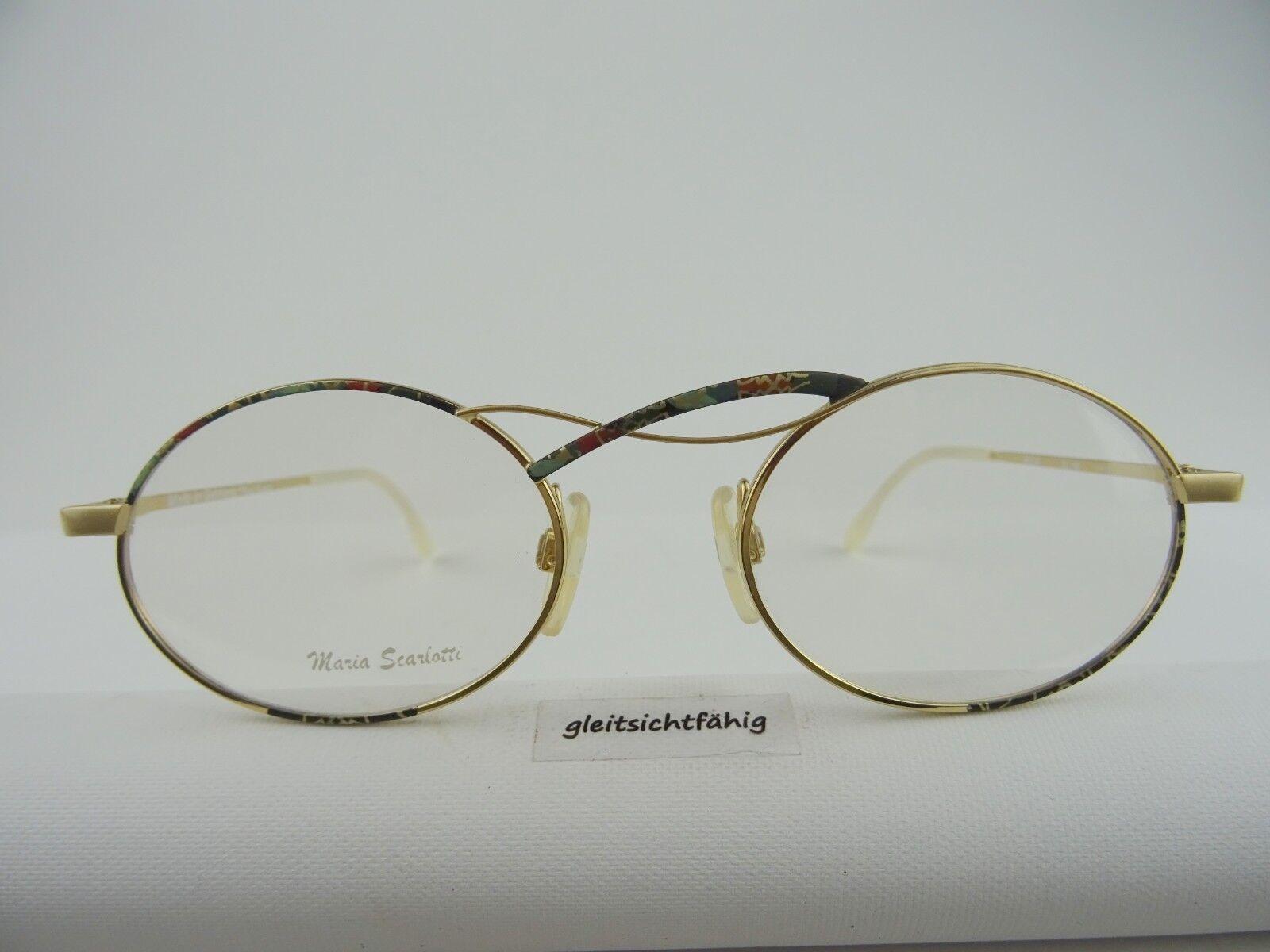 Ausgefallene Damenbrille Brillengestell ovale/runde Form mehrfarbig Gr. M 50[]20