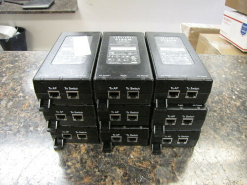 Lot of (9) Cisco Aironet Power Injector DPSN-35FB 56V / 0.55A 341-0212-01 - QTY