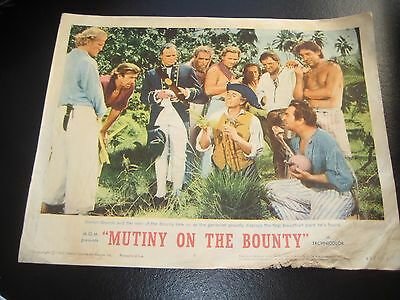 Vintage Lobby Card MUTINY ON THE BOUNTY 1963 MARLON BRANDO MGM