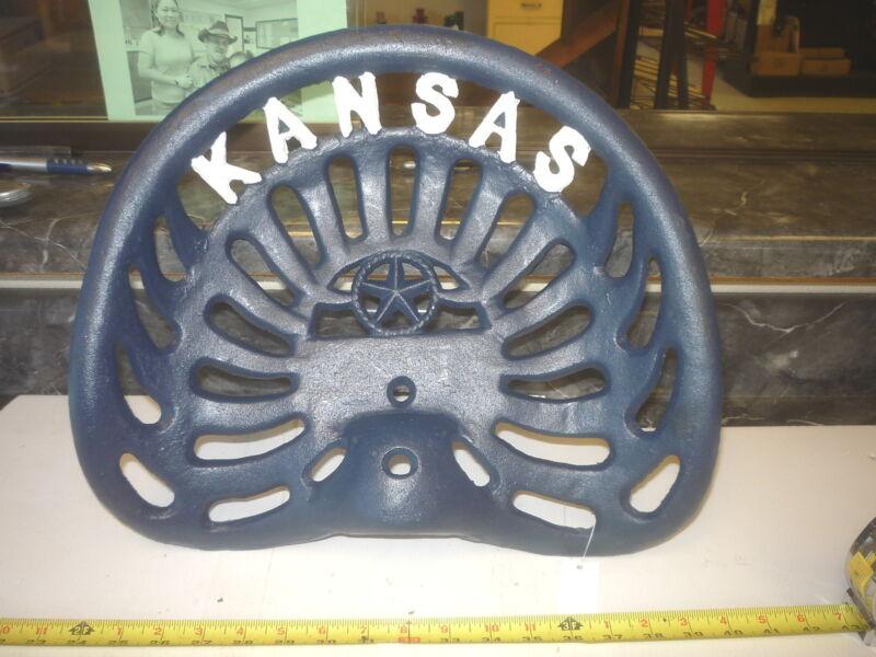 CAST IRON    SEAT  KANSAS  JAYHAWK BLUE