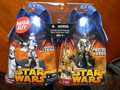Star Wars Revenge of the Sith ROTS Tactical Ops Trooper, C3PO RARE MEGA