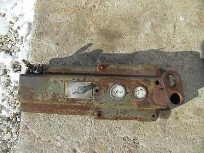 1947 John Deere M Tractor Jd Dash Panel Gauges Serial Tag Steering Support