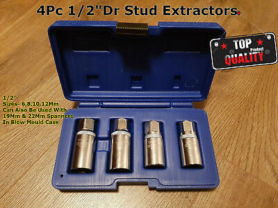 4pc Pro Stud Extractor Removal Tool Set 1/2