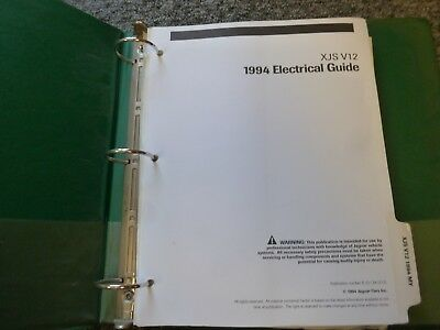 1994 Jaguar XJS XJ-S V12 Coupe Convertible Electrical Wiring Diagram Manual