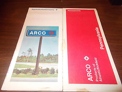 1971 ARCO Pennsylvania Vintage Road Map