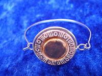 Bella Bangle__argento Con Inscritta Pietra__ -  - ebay.it