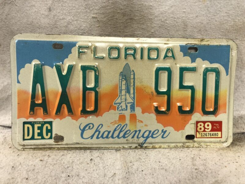1989 Florida Challenger License Plate