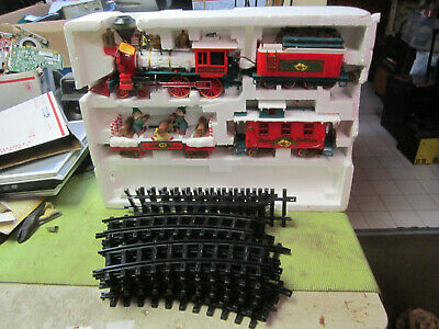 USED Winter Express Belle Train Set Complete Christmas Holiday Train FREE SHIP