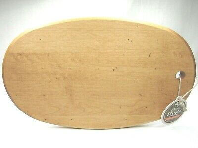 JK Adams Artisan Collection Oval Wood Cutting Board Cheese Slicing USA Made NEW
