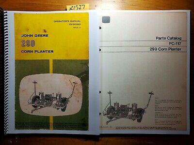 John Deere 290 Corn Planter Owner Operator Manual Om-b25260 J7 Parts Pc-117 70