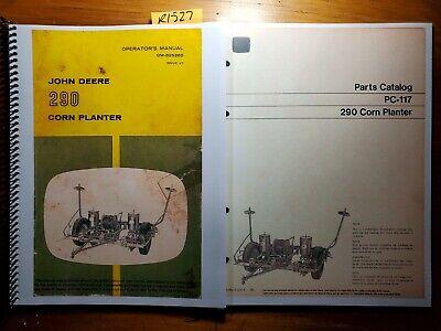 John Deere 290 Corn Planter Owner Operator Manual Om-b25260 J7 Parts Pc-117 70