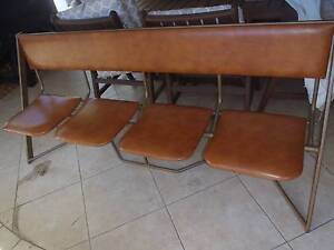 SET OF 4 RETRO FOLD UP SCHOOL / THEATRE CHAIRS Redland Bay Redland Area Preview