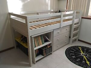 White Single (Unisex) Loft Bed / Bunk Wakerley Brisbane South East Preview