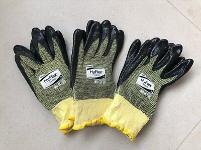 Ansell Hyflex Anticut Gloves - Size 8 - 3 Pairs