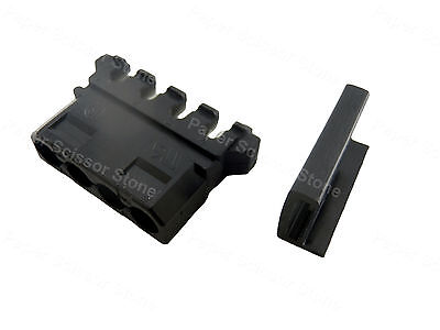 5 Set Black Molex 4 Pin Punch Down Power Plug Connector With Single End Cover