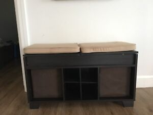 MOVING SALE: Wood Bench with Storage