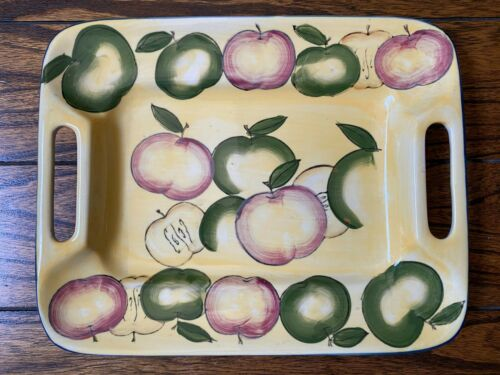 Vintage WCL China Serving Tray with Apple Motif