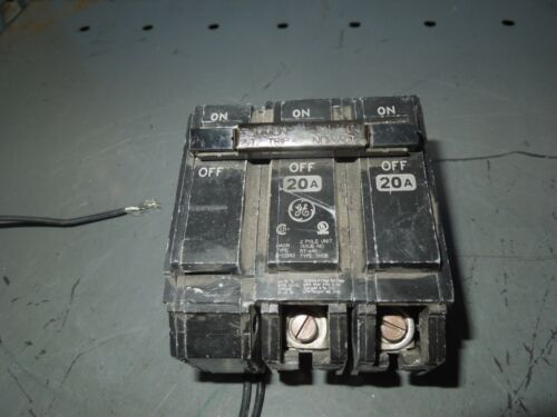 Ge Thqb320tqsta1 20a 3p 240v Shunt Trip Device Used