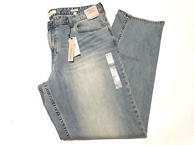 Calvin Kline Jeans Blue Wash Faded Sz 40x32 Wiskering Sand Blasted New With Tags