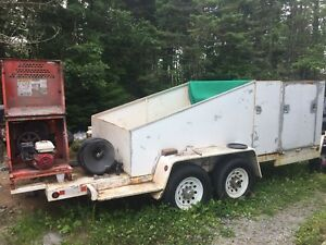 Mortor mixer and heavy duty work trailer
