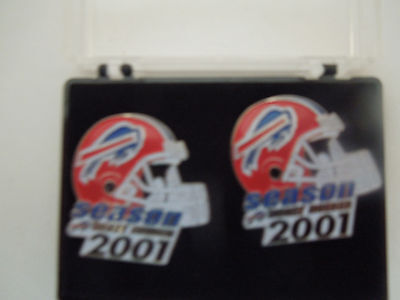 "Set of 2 Buffalo Bills 2001 ""Season Ticket Holder"" Metal Lapel (Hat, Tie) Pins"