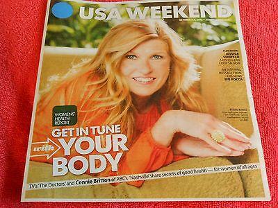 Usa Weekend October 2013 Connie Britton Nashville Womens Health Report