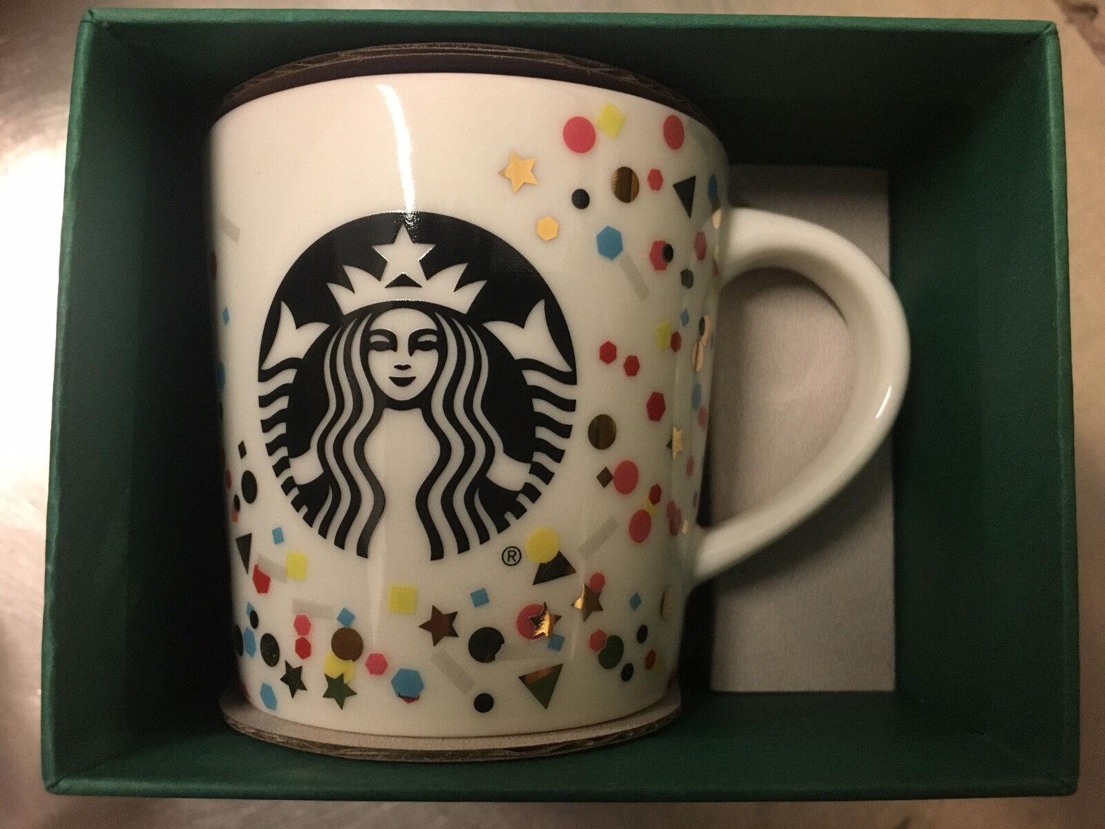 3oz Starbucks Demi Cup Confetti collectors mug limited edition Brand New in Box