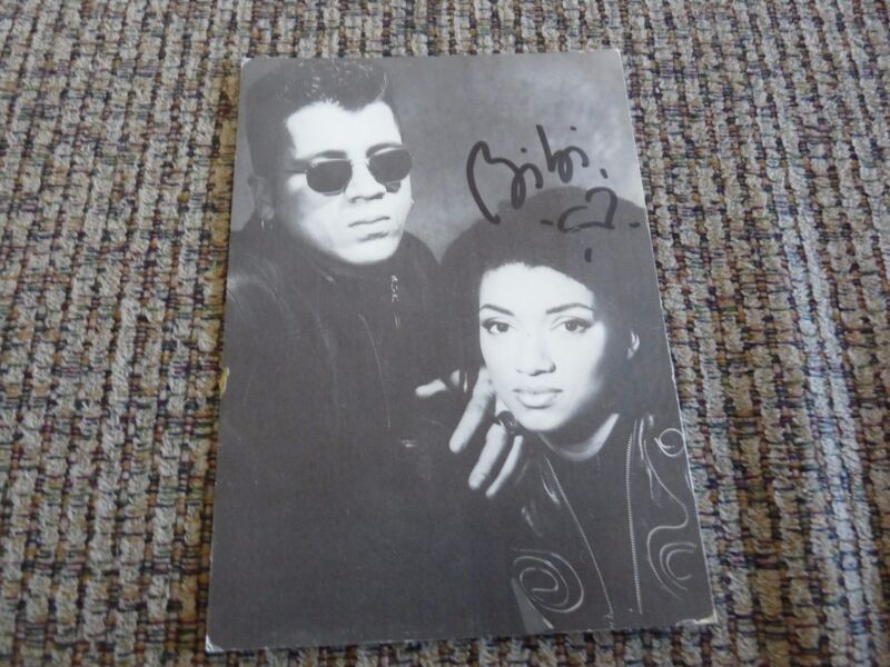 L.A. Style Autographed Signed 4.25 x 6 Promo Postcard Photo DJ Techno