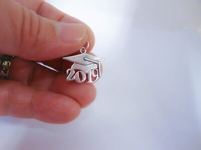 Sterling Silver Charm Graduation Cap 2019 Class Year, Grad Gift, Made in USA