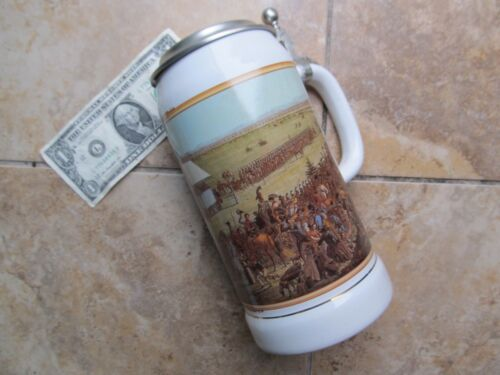 BEAUTIFUL TALL, Vintage COVERED STEIN, SUPER MILITARY PICTURE, NAPOLEON, German