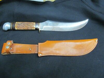 """VERY CLEAN OLSEN KNIFE CO 2700 8"""" BUFFALO SKINNER KNIFE GERMANY"""
