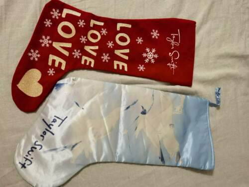 Taylor Swift Pair of christmas stockings Rare Limited Edition