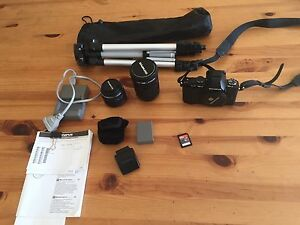 Olympus OMD EM5 bundle with two lens and other stuffs Denistone East Ryde Area Preview