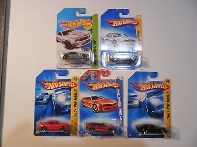 lot of 5 Hot Wheels Camaros ,Zamac, Concept, SS