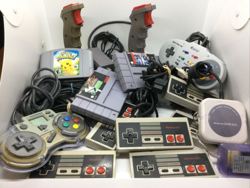Nintendo Lot Controllers Games Accessories For Super Snes Nes N 64 Gameboy