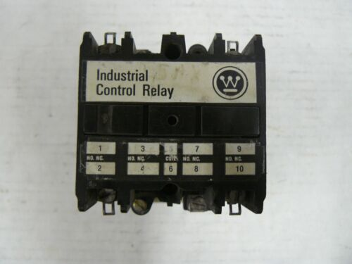 WESTINGHOUSE INDUSTRIAL CONTROL RELAY ARD4S 600DC VOLTS STYLE 765A651G01