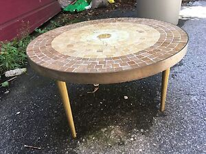 Lovely handcrafted mosaic table