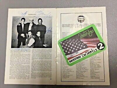 Beach Boys AUTHENTIC AUTOGRAPHS, Garden State Arts Ctr, 7/27/91 Concert Program
