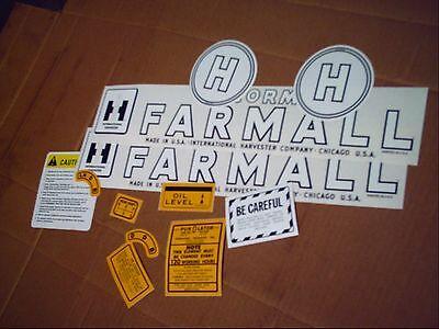 Farmall H Decal Set 1945-1952 Ih Mccormick Farmall
