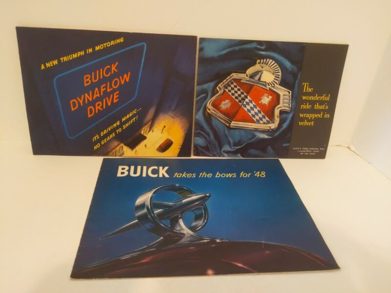 1948 Buick Brochures Dynaflow Drive Vibra-Shielded Ride Takes Bows for