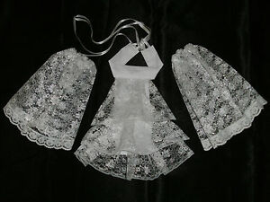 Lace-Cravat-Cuffs-Jabott-Neck-Frill-Victorian-Edwardian-Fancy-Dress-2-Colour