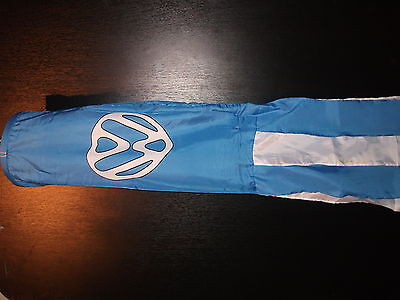 """VW HEART 60"""" LONG WINDSOCK WITH COORDINATING TASSLES WITH 2 FREE VW HAND FLAGS"""