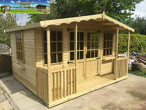 12x10 Apex Summerhouse Summer house Garden Office Shed Contemporary T&G