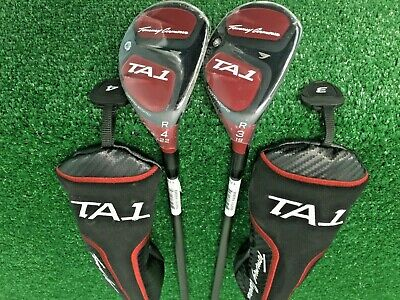 NEW Tommy Armour TA1 Hybrid Set: (3H & 4H) Regular-Flex Graphite + HeadCovers RH