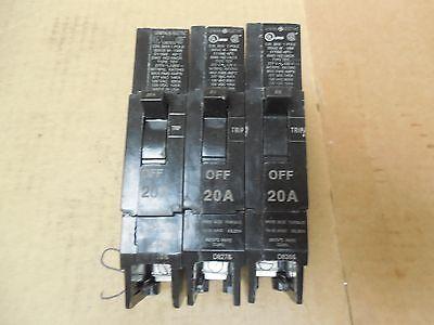lot of 3 THHQL2130 GE Circuit Breaker 30A 2 Pole 22KAIC