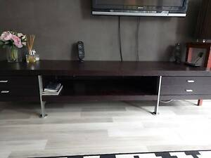 Solid wood, Dark brown Entertainment Unit Tempe Marrickville Area Preview