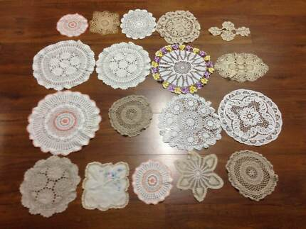 Assorted Sized Doilies Qty 43